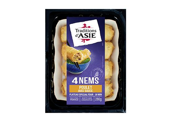 4 Nems au Poulet avec Sauce Nuoc Mam 280g