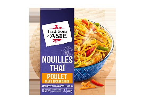 Nouilles Thaï poulet sauce sucrée salée 280gr