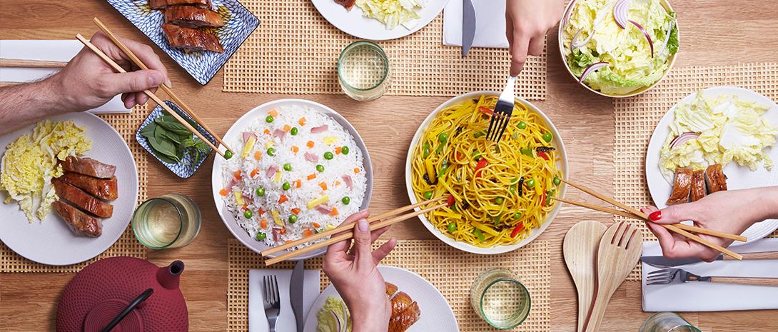 Plats cuisinés à partager