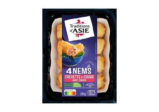 4 Nems à la Crevette et au Crabe avec Sauce Nuoc Mam 280g