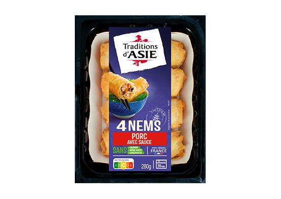 4 Nems au Porc avec Sauce Nuoc Mam 280g